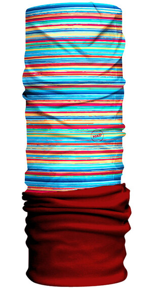 HAD Fleece sjaal rood/bont